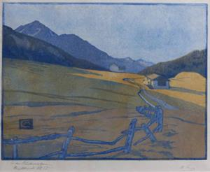 In den Bündneralpen, 1914